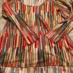 Tops - LulaRoe size large multi color blouse